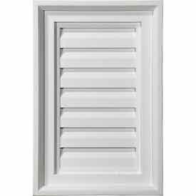 Ekena GVVE24X36D Vertical Gable Vent Louver, 24''W x 36''H, Decorative