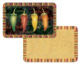 Counterart Reversible Set of 4 Wipe-Clean Decofoam Placemats - Hot & Spicy Peppers