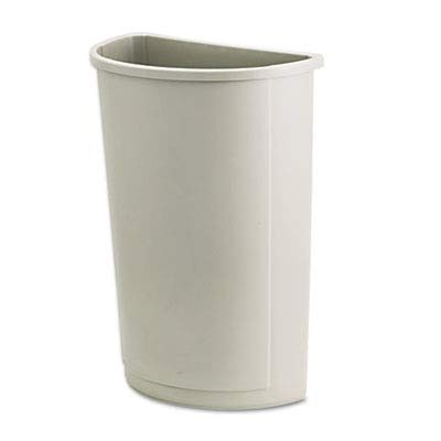 Rubbermaid Commercial 352000BG Untouchable Waste Container, Half-Round, Plastic, 21gal, Beige