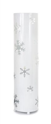 Melrose 24'' Elegant Winter White Christmas Snowflake Standing Floor Candle Lantern