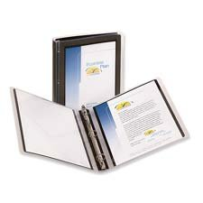 12 Avery Flexi-View Round-Ring Presentation View 3-Ring Binders, 1 Capacity, Black, EA - AVE17686