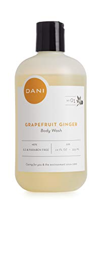 Moisturizing Body Wash By DANI Naturals - Invigorating Grapefruit Ginger Scented - Organic Aloe Vera & Natural Glycerin - Paraben & Sulfate Free Shower Gel - For Men & Women - 12 Ounce Bottle Body Wash Grapefruit Ginger