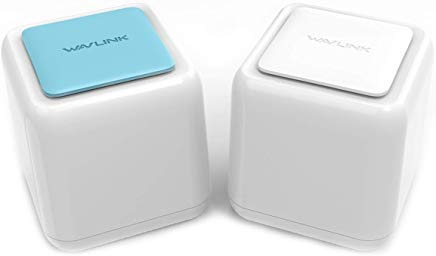 WAVLINK Halo Base 2 Whole Home Mesh Wireless WiFi System, 1 WiFi Router + 1 Satellite Point, Replaces AC Routers and Extenders, 1200Mbps Dual Band, Seamless Roaming, Up to 3000 sq. ft. Coverage by Ruichuang Technology