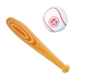 Baseball PARTY DECORATIONS - Inflatable BASEBALL & BASEBALL BAT Inflate TOYS - BIRTHDAY Party DECOR/SPORTS by M&E