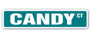CANDY Street Sign Decal halloween valentines sweet colorful sour lollipop toffee gift