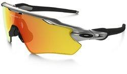 Oakley Radar EV XS Path Silver / Fire Iridium Polarized & Cleaning - Youth Oakley Sunglasses