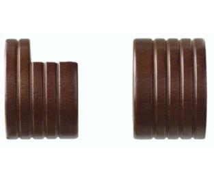 curtain rod brackets wooden - 7