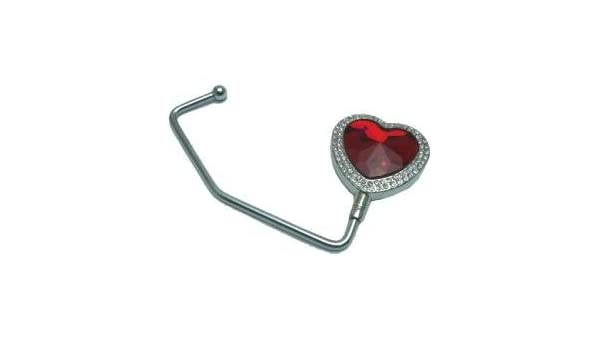 Red Heart Purse Handbag Hanger Hook