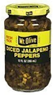 product image for Mt. Olive Diced Jalapeno Peppers 12 Ounce (Pack of 6)