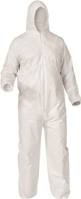 - Kimberly Clark 38937 Kleenguard A35 Liquid and Particle Protection Coveralls, 2475178, Medium, White