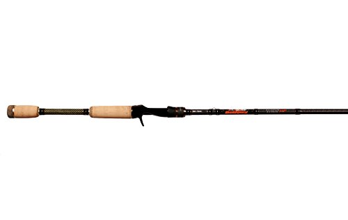 Dobyns Rods DX 704C Champion Extreme Series Heavy Fast Casting Rod, 7'0', Black/Orange