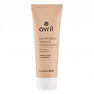 (Avril - Organic Moisturizing Face Mask - for Dry & Sensitive Skin - Nousihing - with Organic Shea Butter & Organic Aloe Vera - Paraben Free - 50 ml)