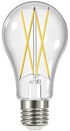 Satco S11513 12W A19 LED; Clear; Medium Base; 2700K; 120V; 12 Bulbs