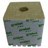 Grodan Rockwool Cubes with Holes - 6 x 6 x 6 Inches - 4 Pack