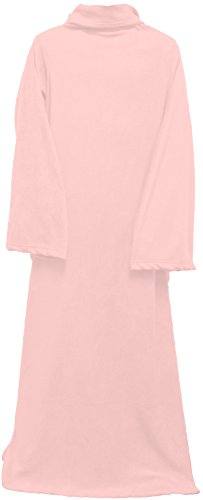 Simplicity Unisex Soft Fleece Comfy Solid Color Throw Blanket w/ Sleeves, Pink (Cheap Mexican Ponchos)
