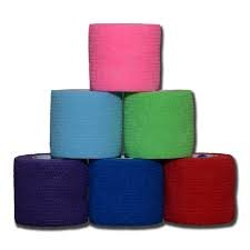 """Oasis Self Adherent Cohesive Bandage Wrap Tape for Pets, Sports, Sprians, Swelling and First Aid 1"""" X 5 Yds, Assorted Colors, 30 Rolls/Box"""