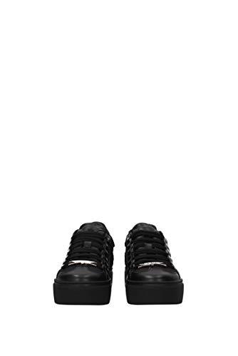 Eu Sneakers Noir Femme snw000306500276 Cuir Dsquared2 HxAqRvwSx