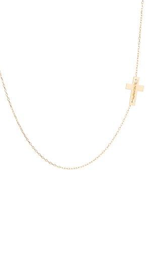 ELEMENTS - Collier «Croix» Or Jaune 42 cm - Réglable 2 cm. - Composant H 14,0 L 9,0 - Tit. 375/1000