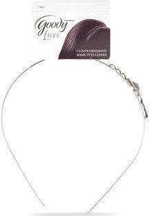 Goody Luxe Clover Glam Headband Silver