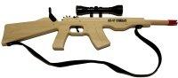 Magnum Enterprises AK47 Rubberband Rifle with Strap & Scope