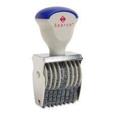(SPR01498 - Sparco Rubber Number Stamp)