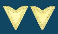 "Gold Economy Collar Tips Screw-On 1-1/4"" along edge"