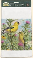 Fiddler's Elbow Goldfinches Towel 31x 17 Inches