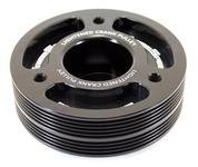 (GrimmSpeed 095015BK Light weight Crank Pulley-Black )