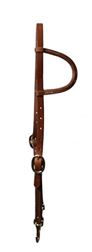 Showman One Ear Oiled Leather Training Bridle With Snaps Barn Supplies Horse Headstall