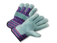 Safety Cuff Leather Palm Gloves, 120 pairs, Emerald #108