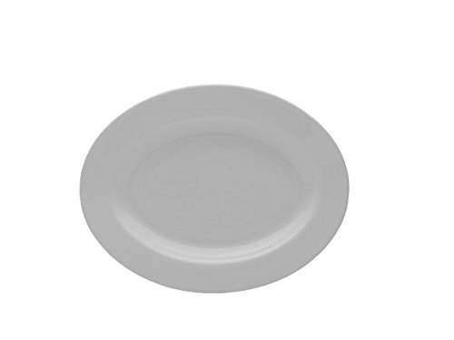 - Mikasa Delray Bone China Oval Serving Platter, 14-Inch