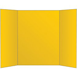 Office Depot 72% Recycled Tri-Fold Corrugate Display Board, 36in. x 48in, Yellow, 26994