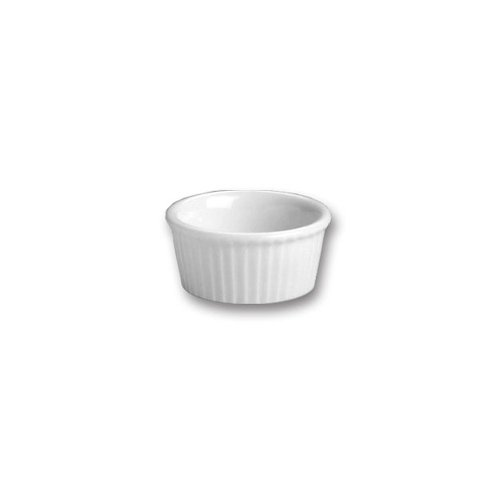 Hall China 843-WH White 1 Oz. Fluted Ramekin - 72 / - China Hall Ramekins