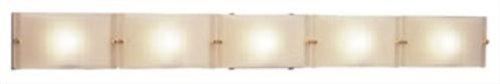 PLC Lighting 1805 PC 5 Light Vanity, Gem Collection, Polished Chrome - Halogen Bathroom Frost Light Acid