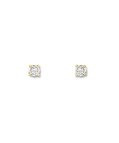 OR by Stauffer - Boucles d'oreilles or bicolore 375/1000, diamants by Stauffer