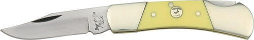 Bear & Son Cutlery C326 Delrin Lockback Upswept Knife, 3″, Yellow