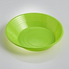 ILIP PZ 100 PIATTO VERDE FONDO TONDO CM 21 IN PLASTICA ALIMENTARE APERITIVO HAPPY HOUR PIATTI VASSOI GREEN PLASTIC DISHES