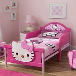 Hello Kitty Toddler Bed.Hello Kitty 3d Toddler Bed Pink By Hello Kitty Amazon Com