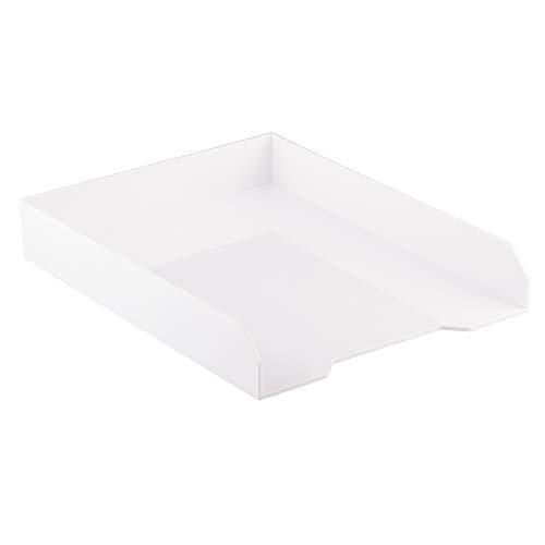 - JAM PAPER Stackable Paper Trays - White - Desktop Document, Letter, File Organizer Tray - Sold Individually