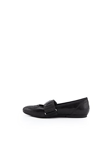 Leather HXW1440K090FF8B999 Women's Black Flats Hogan TwzROxqT