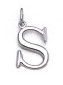 "Pendentif initiale blanc 14 carats 11/16 ""- JewelryWeb"