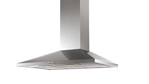 Campana de Cocina IHD CH Tulum de 90 cms en Acero Inoxidable con Ducto Extraible; con Diseño Innovador y Tecnologia Italiana