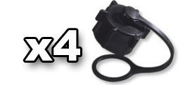 ((4) Small Vent Cap for VP Racing Fuels 5 gallon gas jug and possibly other brands 24mm)
