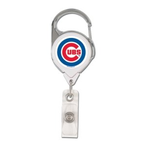 WinCraft MLB Chicago Cubs Retractable Premium Badge Holder, Team Color, One Size (Clip Cubs Mlb)