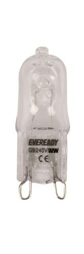 Eveready 10x 25W G9 Clear Halogen Capsule Lamps - Pack Of 10 - [EU SPECIFICATION: 220-240v]