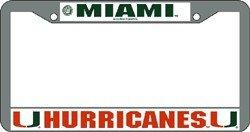 NCAA Miami Hurricanes Chrome Plate Frame