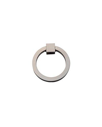 Ring Pull 3″ Round Brass SN - Satin Nickel