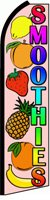 SMOOTHIES (Fruit) Feather Banner Flag (11.5 x 3 Feet) by Vista Flags