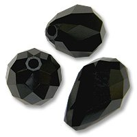 Swarovski Tear Drop Beads 5500 9x6mm Jet (Package of 1)