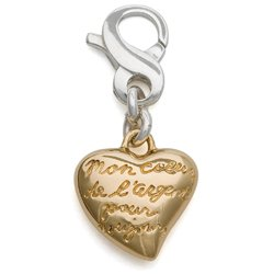 Carolee Charm - My Heart Forever Heart Charm, Gold-Plated Sterling Silver